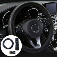 Universal_Auto Car Steering Wheel Cover Leather Breathable Anti-slip BlackB CA
