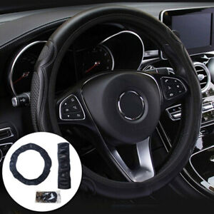 Universal Auto Car Steering Wheel Cover Leather Breathable Anti-slip Bha
