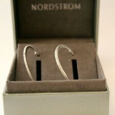 Nordstrom Cubic Zirconia Stud Earrings Round Chic 0.50ct Sterling Silver $58 New