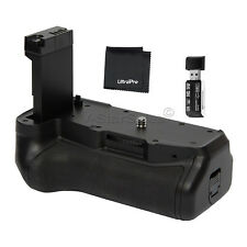 Vivitar Battery Grip for Canon T7i, 77D + SD Card Reader and Cleaning Cloth