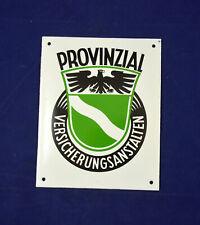 VINTAGE GERMAN ENAMEL PORCELAIN SIGN PROVINZIAL VERSICHERUNGSANSTALTEN ORIGINAL
