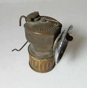OLD JUSTRITE CARBIDE MINING MINER'S LAMP