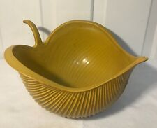 Jonathan Adler Pottery Large 13 x12 Leaf Bowl Mustard Yellow