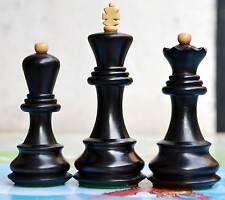 Zagreb Chess Set 4Q Weighted ebonised Set Historical set reproduction