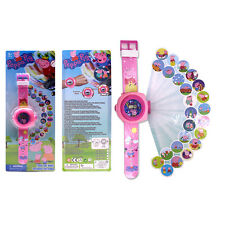 Peppa Pig 3D Digital Projection Watch Kids Children Wristwatch Toys Gift Boxed