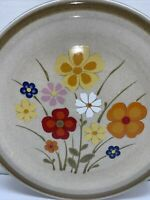 COUNTRY LIVING STONEWARE SERVING PLATTER PLATE ''LINDA'' COLORFUL FLOWERS 12''