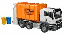 Bruder Man TGS Rear Loading Garbage 3762 WITH BONUS Garbage Can Set 2607! New!