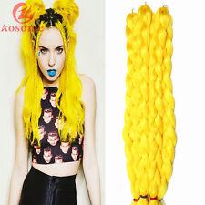 5pack 41'' Kanekalon Jumbo Braid Hair Extensions Best Quality Fiber Solid Yellow