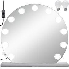 Hollywood per trucco vanity SPECCHIO senza cornice rotonda 12 Luci LED dimmer 70*70cm