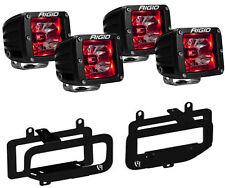 Rigid Radiance LED Fog Light w/ Red Backlight for 10-17 Dodge Ram 2500 3500
