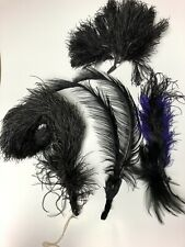 Antique Victorian Millinery Hat Ostrich Feathers