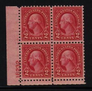 1924 Sc 583 MNH original gum plate block 18232LL CV $110