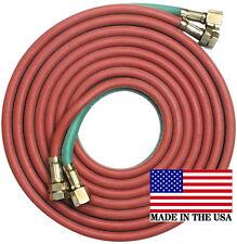 "50' x 1/4"" Goodyear/Continental Twin Torch Hose Oxygen Acetylene Welding Grade R"
