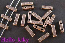 150 Pcs Antiqued copper plt 2 holes spacer bars A268