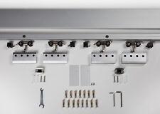 Glastürschiebesystem ALU60 für 2 flüglige Glastüren Maße 775/900/1025 x 2050 mm