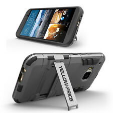For HTC ONE M9 Cover Armorbox Dual Layer Hybrid Hard/Soft Protective Stand Case