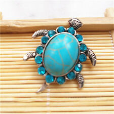 Jewelry Turquoise Sea turtle Snaps Chunk Charm Button FIT For Noosa Bracelets 01