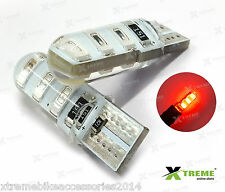 2pcs 6smd 5w Jelly T10 Red Parking LED for Skoda Rapid