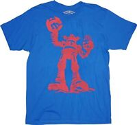 Adult Mens Blue Ames Bros Red Destroyer Graphic Vintage Cotton T-shirt Tee