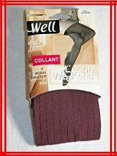 WELL NEUF Taille 1 - 2 Collants opaques Lit de vin ESPRIT WEEK-END modal douceur