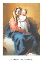 "OLD nice italy rare Holy cards from circa 1980""H5093"" Santa Madonna com Bambino"