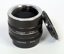 NICE CONTAX Auto Extension  Tube Set 27mm 20mm  for 35mm lenses  Excellent Cond