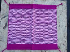 ACRYLIC WOOL SADDLE BLANKET PAD WESTERN SHOW ROPING HORSE TRAIL PINK AREA RUGS