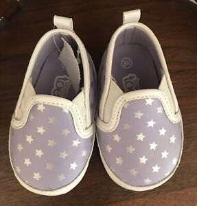 Teeny Toes Shoes Size 3W Girls Infant NOVELTY Flat Walking SHOES ADORABLE Purple