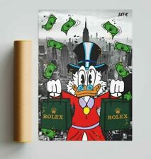More details for rolex scrooge mcduck nyc (poster print) alec monopoly inspired - pop wall art