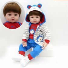 "22""Soft Body Silicone Reborn Boy Doll Vinyl Lifelike Dolls Handmade"