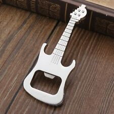 Novelty Metal Silver Guitar Bottle Opener Beer Opener Gift Present
