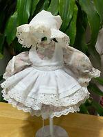 "Vintage antique Victorian Girl Doll Dress Fashion 16"" Doll"