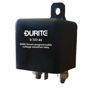 DURITE 0-727-43 12V Smart Programmable Voltage Sensitive Split Charge Relay 200A