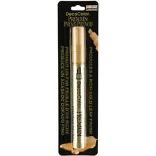 DecoColor Premium Paint Pen Marker Liquid Gold Leaf Leafing Chisel Tip 350-C