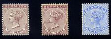 Bermuda. 1884~1898 2d, 2 1/2d, 3d. 1sh SC# 21,21.22.23.23.25 Mint~Used XF