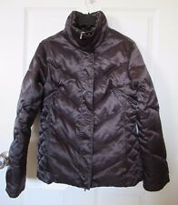 Kenneth Cole Reaction Brown Puffer Down Winter Coat Jacket Small EUC