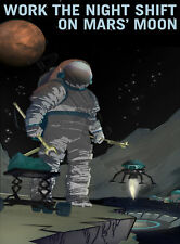 NASA POSTER SPACE EXPLORATION JOB ADVERT MOON 18 x 24 '' LARGE LF3633