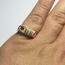 Estate Sale 14 Karat Yellow Gold Genuine Ruby & Diamond Man's Ring