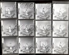 Nude Feather Dancer Poses on Rug HENDRICKSON Negative & Photo Contact Sheet D696