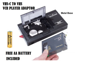 Cassette Adapter converts Camcorder tapes to play on Video VHS VCR Player