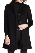 Lauren Ralph Lauren Womens Wool Blend Reefer Coat Jacket in Black Petite Size 4P