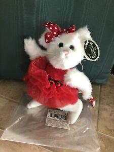 "Bearington Bears BRIE #173216 Plush 8"" Mouse 2014 Red Xmas Dress, Bow NIB🌲🐭"
