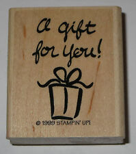 A Gift For You! Rubber Stamp Stampin' Up! Retired 1999 Hostess Home Party SU