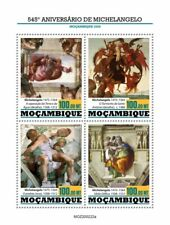 2020/09- MOZAMBIQUE - MICHELANGELO   PAINTING           4V    MNH **
