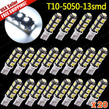 20 X White T10 High Power 156LMS LED Revers Lights Bulbs 5050 13 SMD