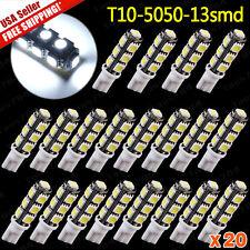 20 X White T10 High Power 156LMS LED Revers Lights Bulbs 5050 13 SMD