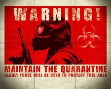 Zombie Quarantine Sticker (Picture World War Z Walking Dead 28 Days Later)