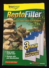 Tetrafauna ReptoFilter Disposable Filter Cartridges Large 3 Pack Tetra New
