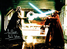 Dave PROWSE SIGNED Autograph Darth VADER Film Star Wars 16x12 Photo B AFTAL COA