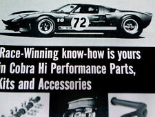 1967 FORD COBRA KIT AD (Mustang/Fairlane/289/260/v8 engine/Shelby/GT/350/500/ac)